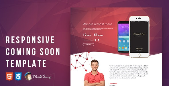 Responsive Coming Soon Template - Specialty Pages Site Templates