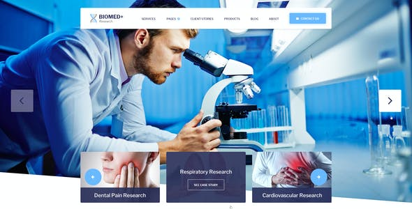 Biomed Plus - Laboratories & Medical Research PSD Template