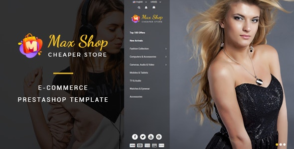 Maxshop - Responsive eCommerce Prestashop Theme - Shopping PrestaShop