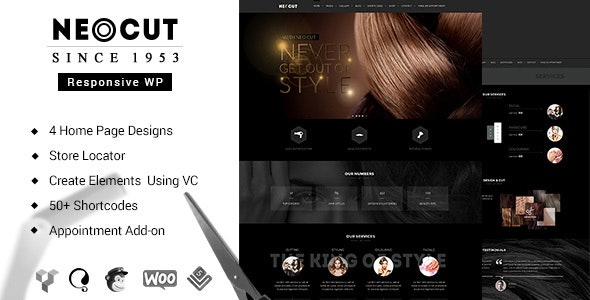 Neo Salon | Barber Shop WordPress Theme by BuddhaThemes | ThemeForest