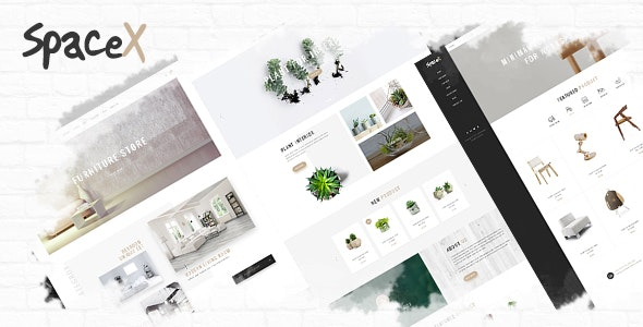 SpaceX Architecture and Interior Design Agency PSD Template - Fashion Retail