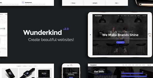 Wunderkind - One Page Parallax Theme by VossenDesign