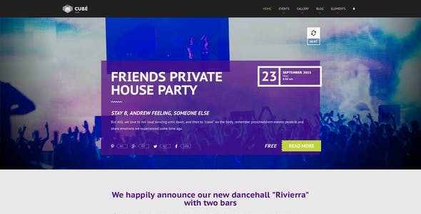 Download Responsive MODX theme for night club