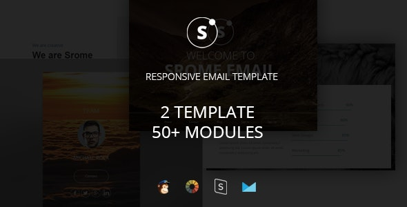 Sromed - Multipurpose Responsive Email Template + Stampready Builder - Newsletters Email Templates
