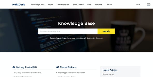 HelpDesk - WordPress Support Center Theme
