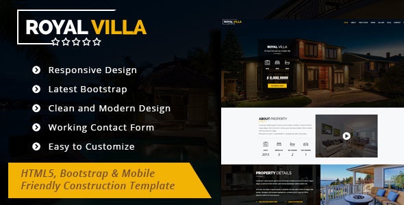 Royal Villa - Single Property HTML 5 Template - Corporate Site Templates