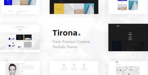 Tirona - Creative Portfolio Template - Creative Site Templates