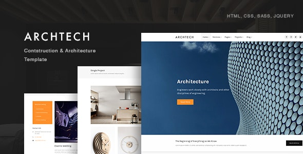 Archtech - Architecture & Construction Template - Business Corporate