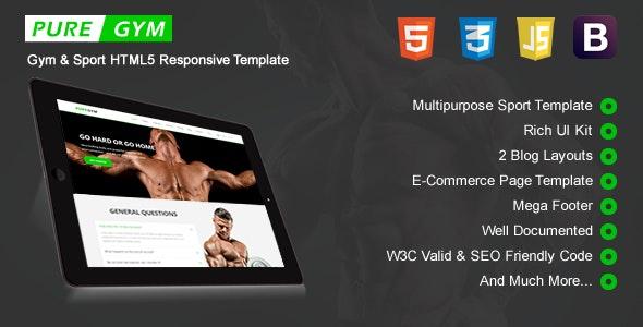 PureGym - Sport & Gym HTML5 Responsive Template - Retail Site Templates