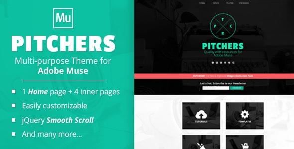 Pitchers | A Multi-Purpose Adobe Muse Template - Creative Muse Templates