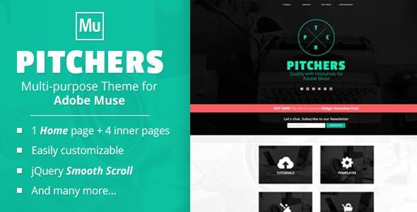 Pitchers   A Multi-Purpose Adobe Muse Template