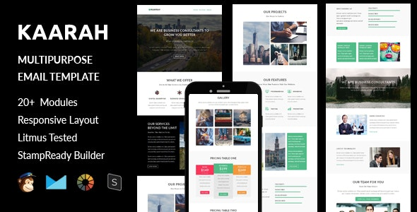 Kaarah - Multipurpose Responsive Email Template + Stampready Builder - Email Templates Marketing