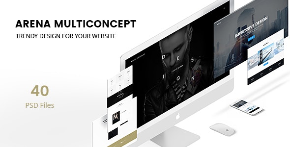 Arena - Multi-Concept PSD - Corporate Photoshop