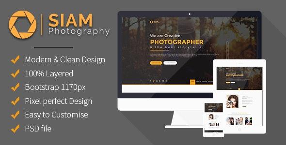 Photography Portfolio - Photoshop UI Templates