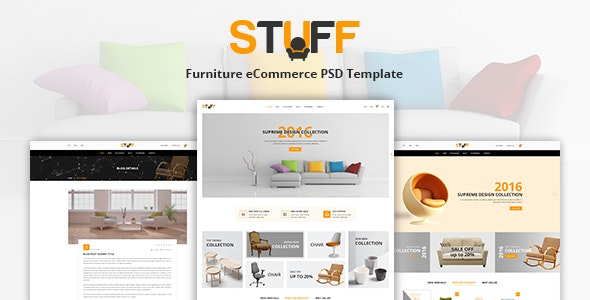 Stuff - Furniture eCommerce PSD Template - Shopping Retail