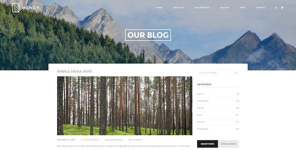 Hency - Portfolio HTML Template