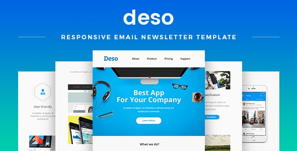 Deso - Responsive Email Newsletter Template - Newsletters Email Templates