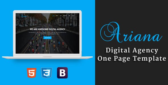 Ariana - Digital Agency One Page Template
