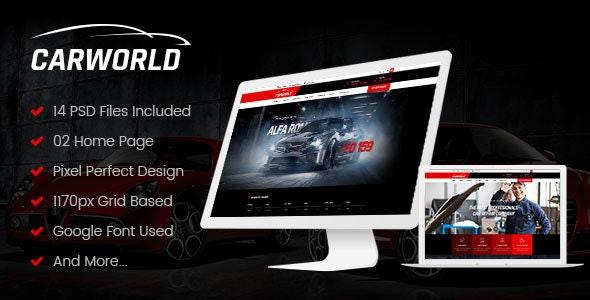 CarWorld - Car Dealer & Auo Repair PSD Template - Photoshop UI Templates