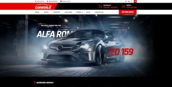 CarWorld - Car Dealer & Auo Repair PSD Template