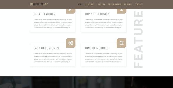 AppINFINITE - App Landing PSD Template
