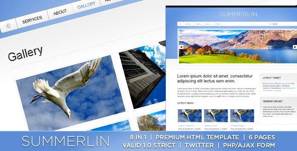 Summerlin - 8 in 1 - Premium XHTML/CSS Template - Portfolio Creative