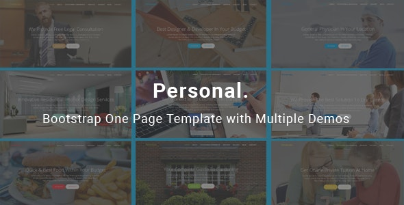Personal - Bootstrap One Page Template - Business Corporate