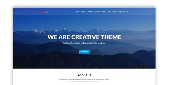 Max l One Page PSD Template - Creative PSD Templates
