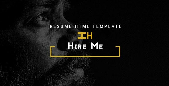 Hire Me - Personal vCard, Portfolio HTML Theme - Creative Site Templates