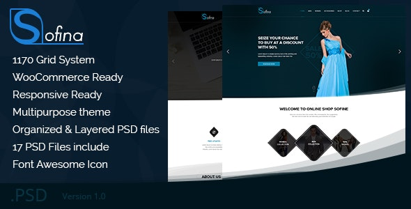 Sofine - Multipurpose business PSD Template by DesignInnovation