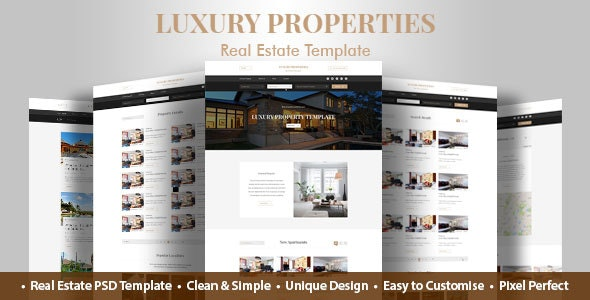 Luxury Property Real Estate PSD Template - Business Corporate