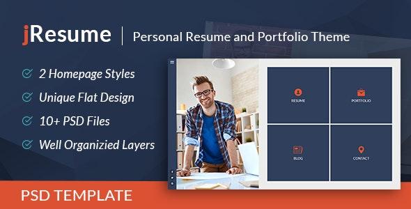 jResume - Creative vCard & Resume Portfolio PSD Template - Personal PSD Templates