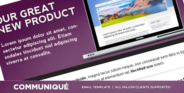 Communiqué - Premium Email Template - Newsletters Email Templates