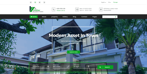 Shelter - Real Estate & Property PSD Template