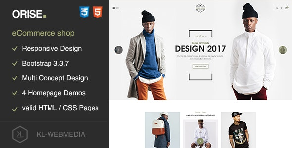 Orise - Mutli-Concept eCommerce HTML5 Template - Fashion Retail