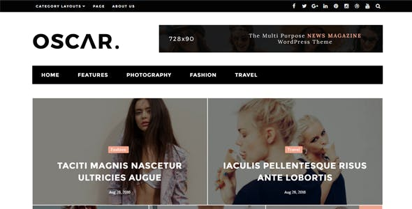 Oscar - Simple, Fast Magazine Blog Theme