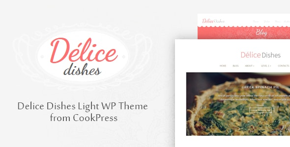 Delice Dishes Light WP Cook Theme • by CookPress - Food Retail
