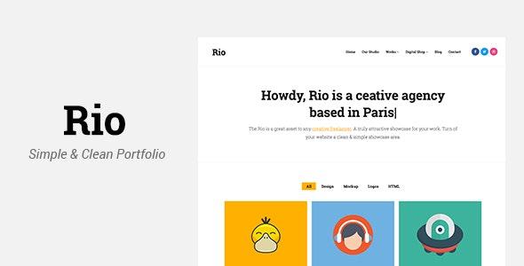 Rio - Creative Responsive Portfolio Template - Portfolio Creative