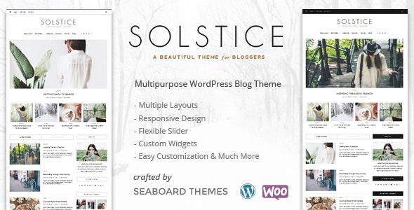 Solstice - A WordPress Shop Blog Theme - Personal Blog / Magazine