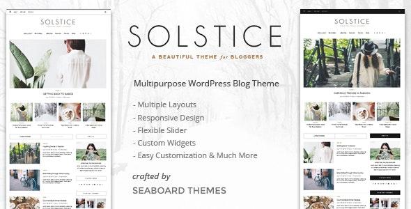 Solstice - Personal & Magazine WordPress Blog Theme - Personal Blog / Magazine
