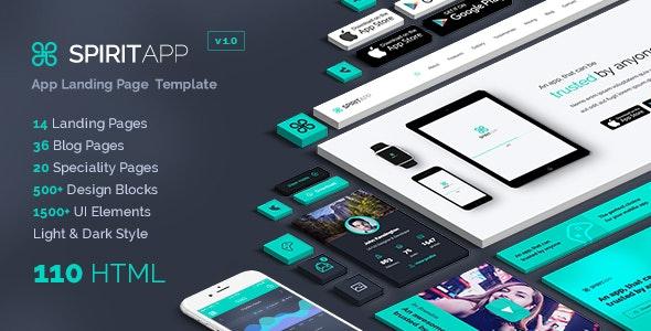 SpiritApp - Landing Page & UI Kit - Corporate Landing Pages