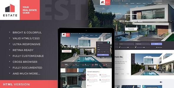 Estate | Property Sales & Rental Site Template - Business Corporate