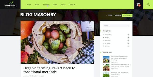 Green Farm – PSD Template