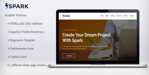 Spark-Multipurpose Template - Corporate Site Templates