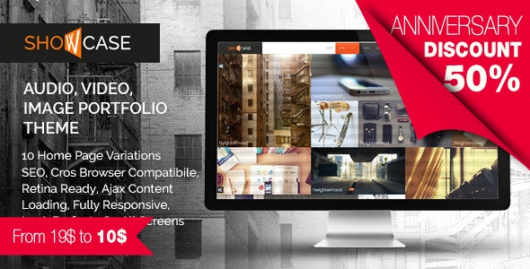 Showcase - Ajax / HTML Responsive Portfolio Theme for Freelancers, Studios and Agencies - Portfolio Creative