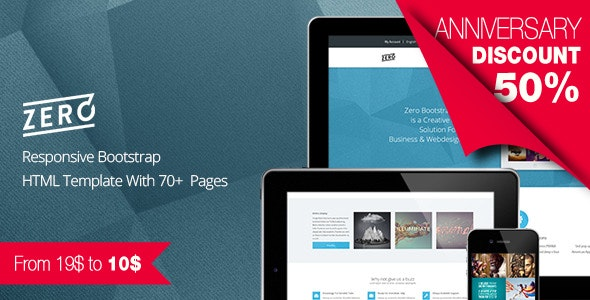 Zero - Responsive and Multipurpose Bootstrap HTML5 / CSS3 Template - Business Corporate