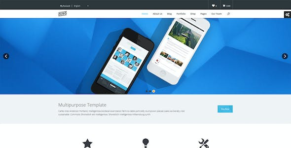 Zero - Responsive and Multipurpose Bootstrap HTML5 / CSS3 Template