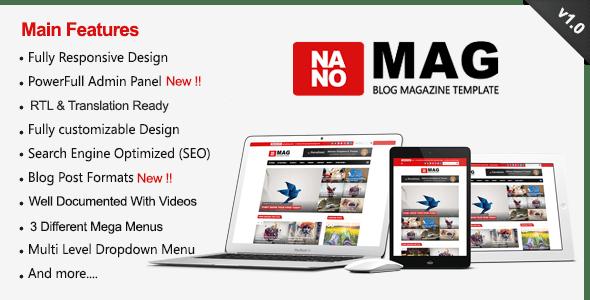 NanoMag - Responsive Blog & Magazine Blogger Template - Blogger Blogging