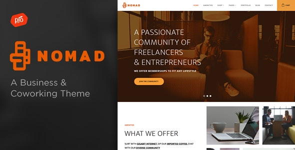 Nomad - Business & Coworking Space Theme - Business Corporate