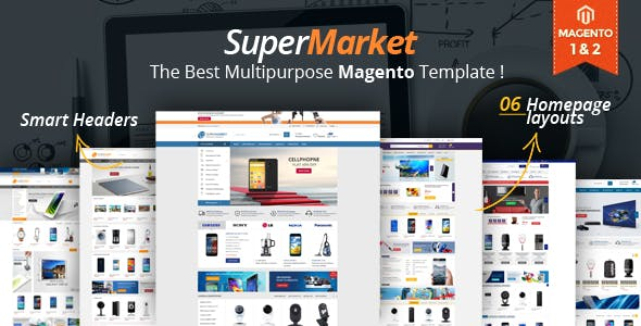 Supermarket Responsive Magento 2 Theme | RTL supported